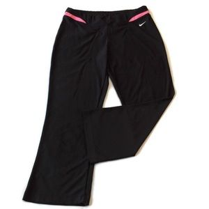 Nike Capri workout pants s 4 6 black stretch